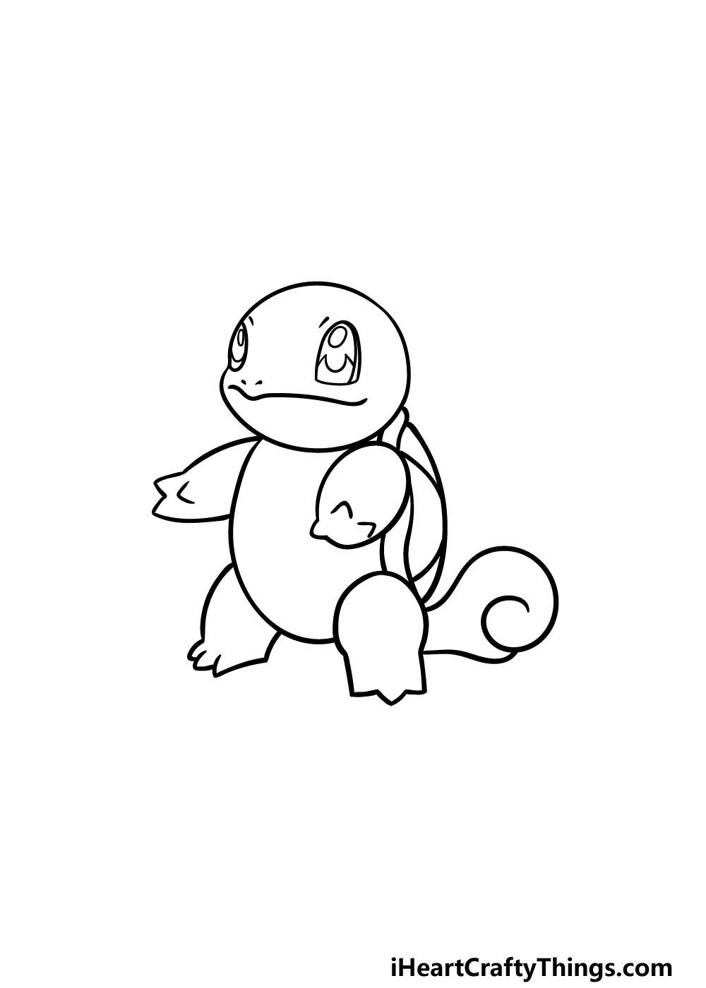 drawing squirtle step 4