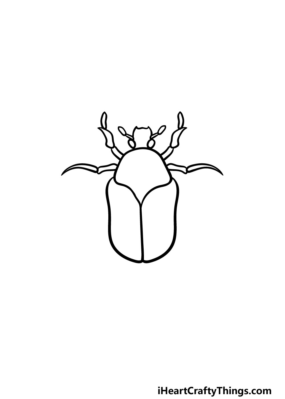 drawing a bug step 4