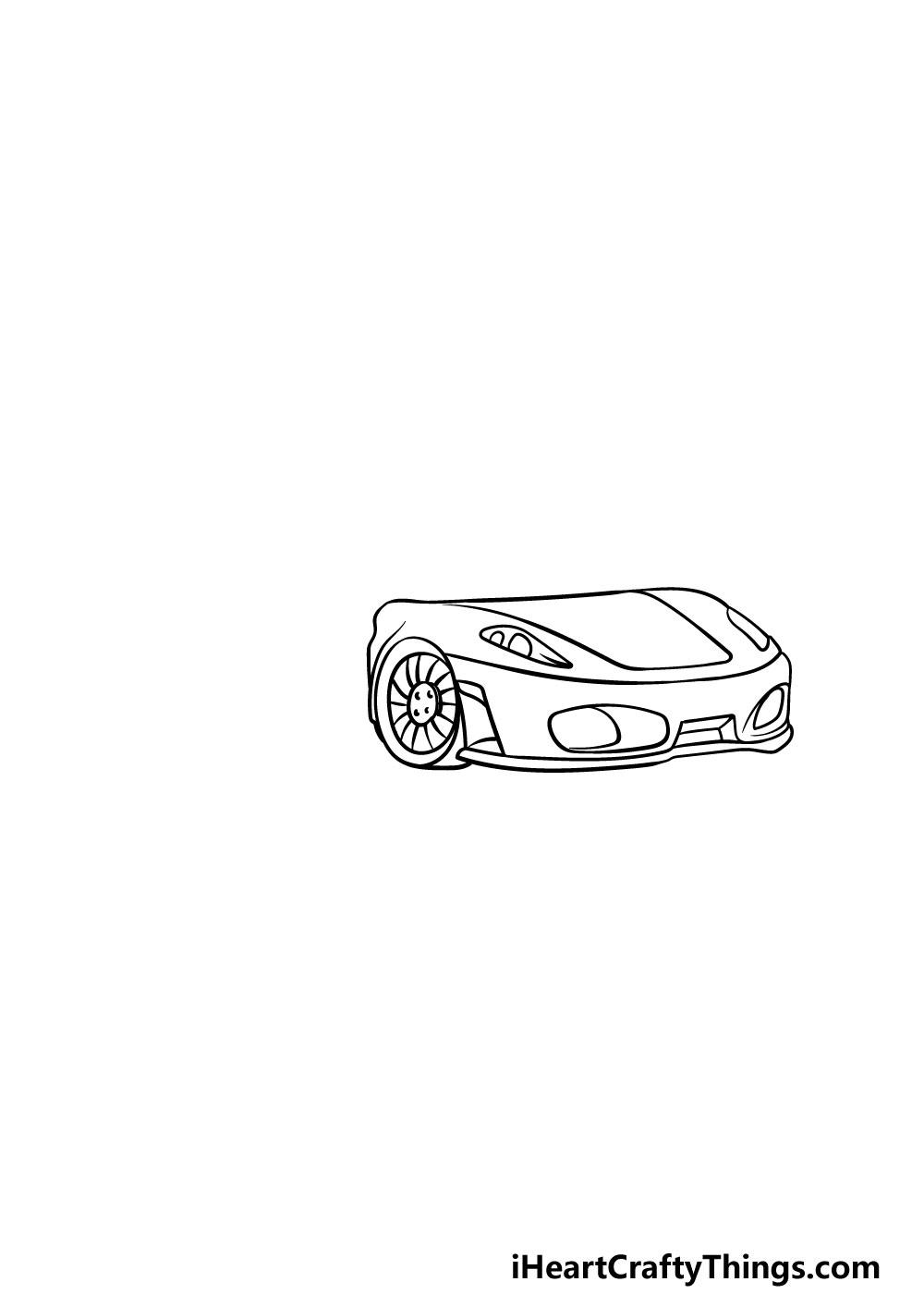 drawing a  ferrari step 4