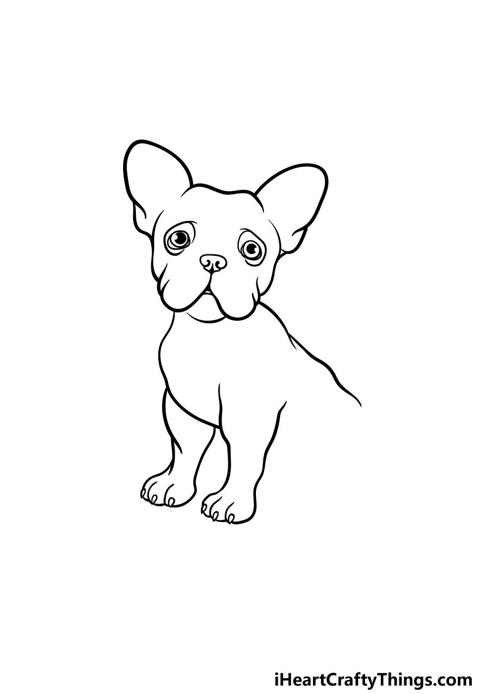 drawing a french bulldog step 4