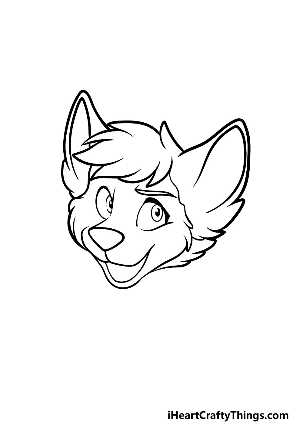 drawing a furry head step 4