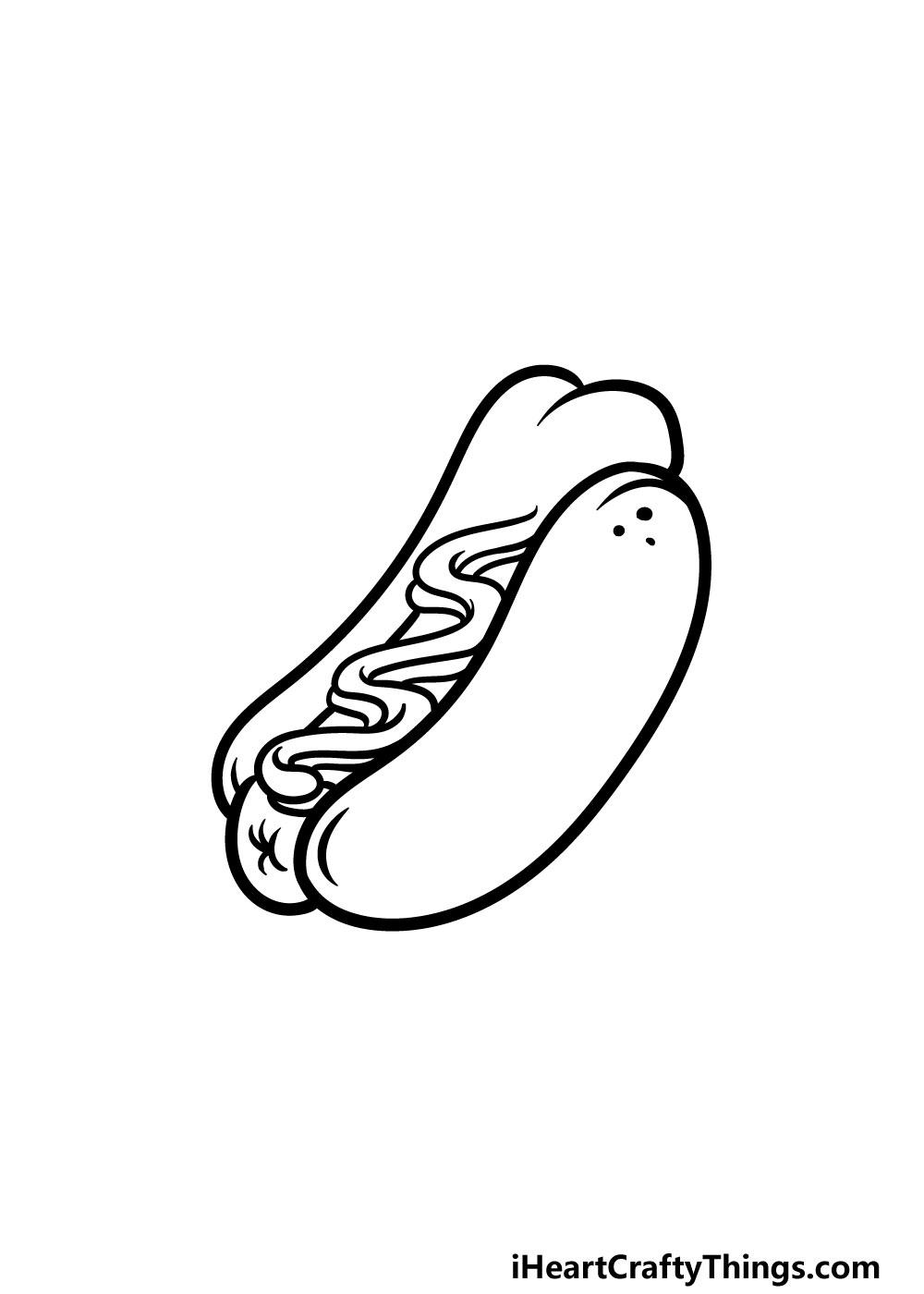 drawing a hotdog step 4
