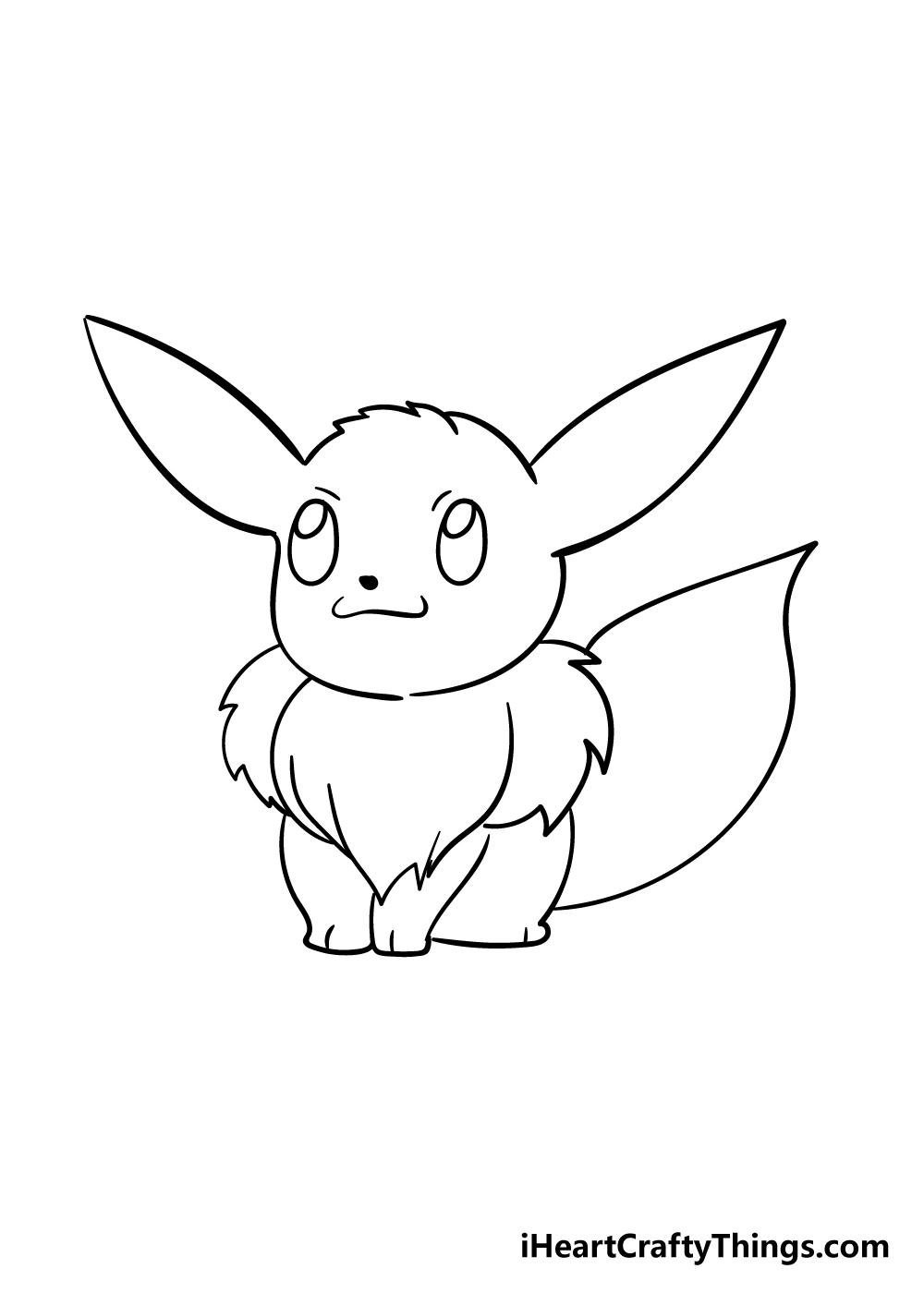 eevee drawing step 4
