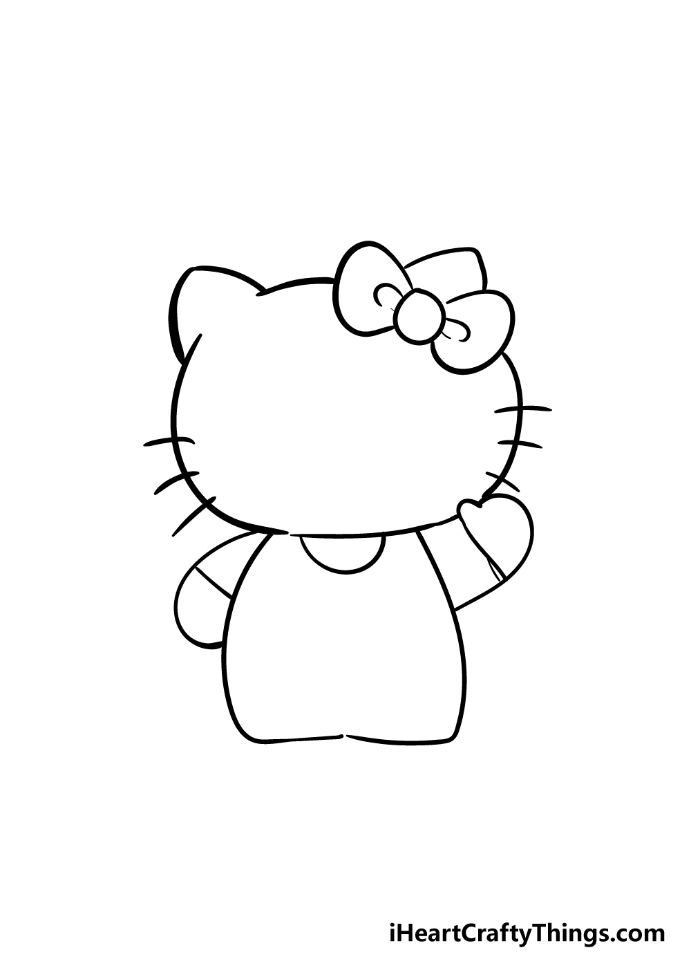 hello kitty drawing step 4