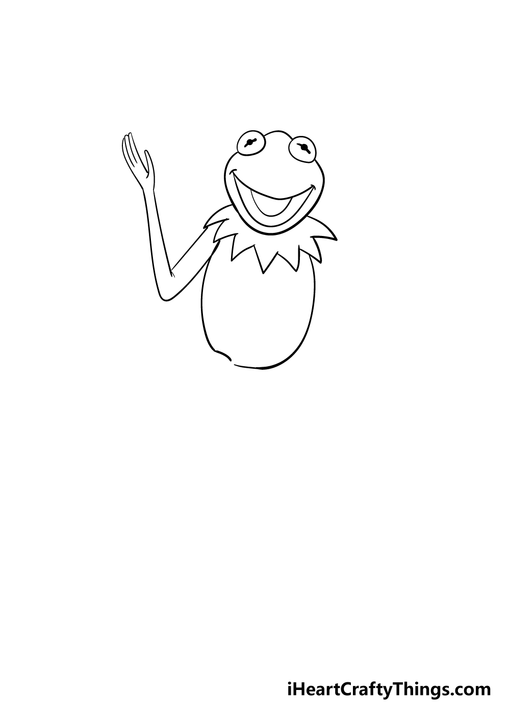 drawing Kermit the frog step 4