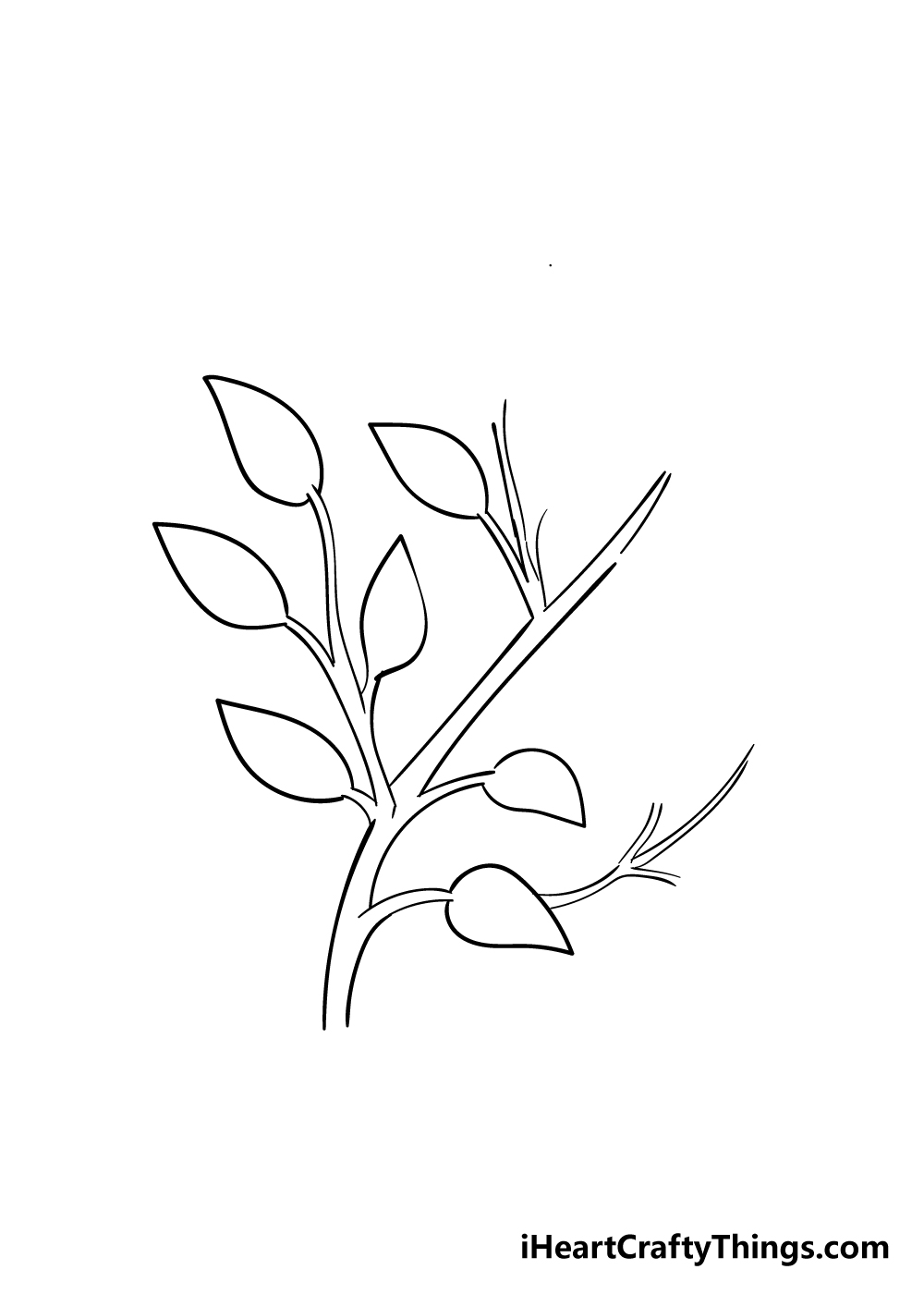 leaves on a tree drawing step 4