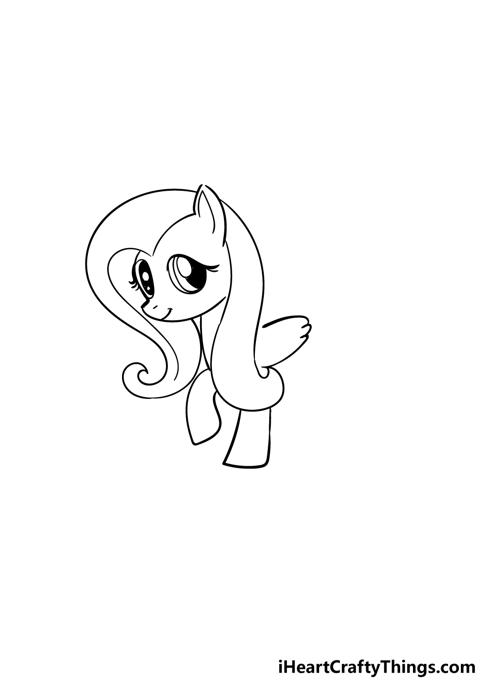 my little pony drawing step 4