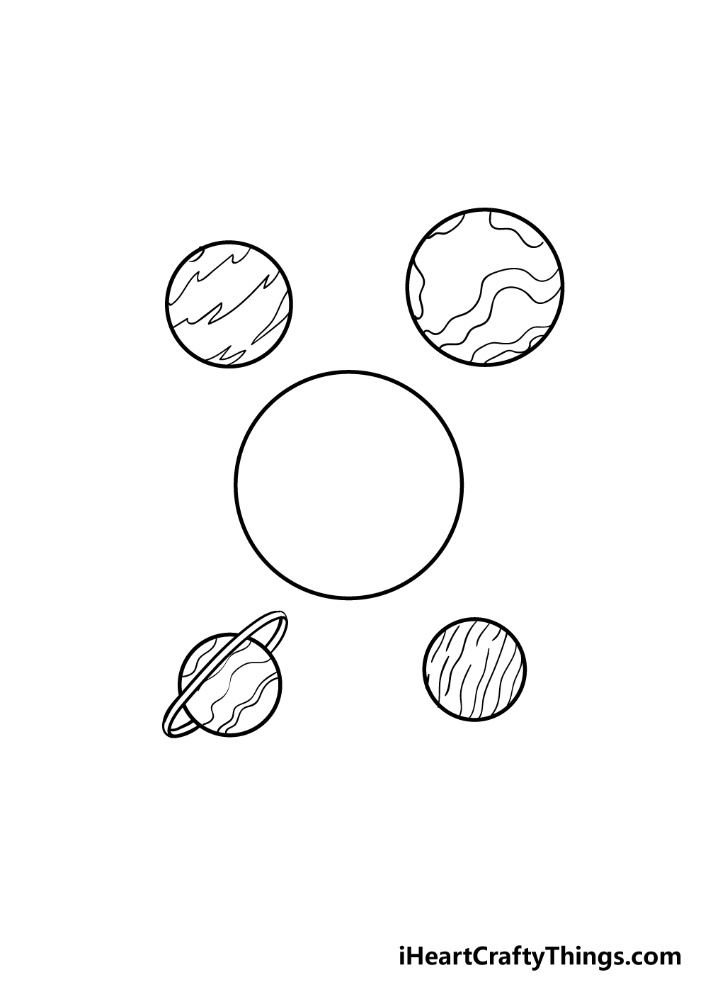 planets drawing step 4