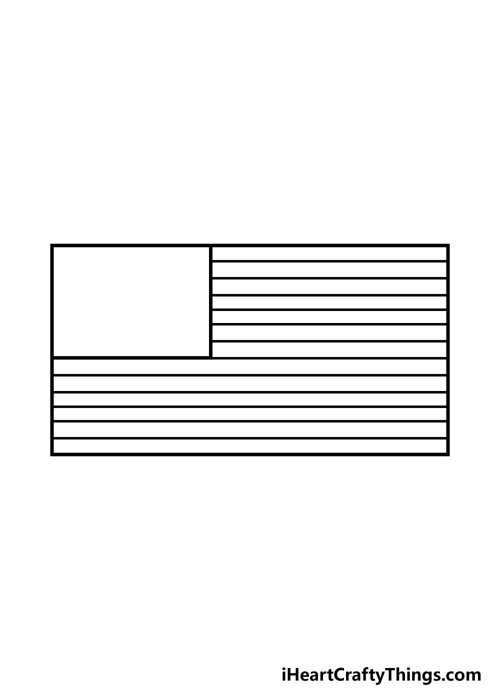 drawing american flag step 4