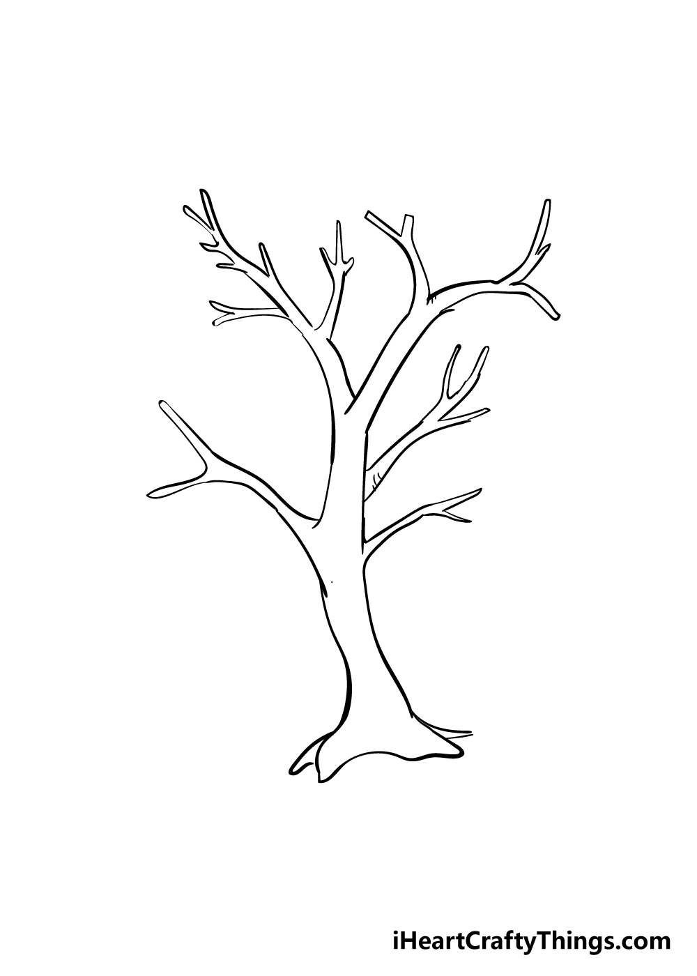drawing branches step 4