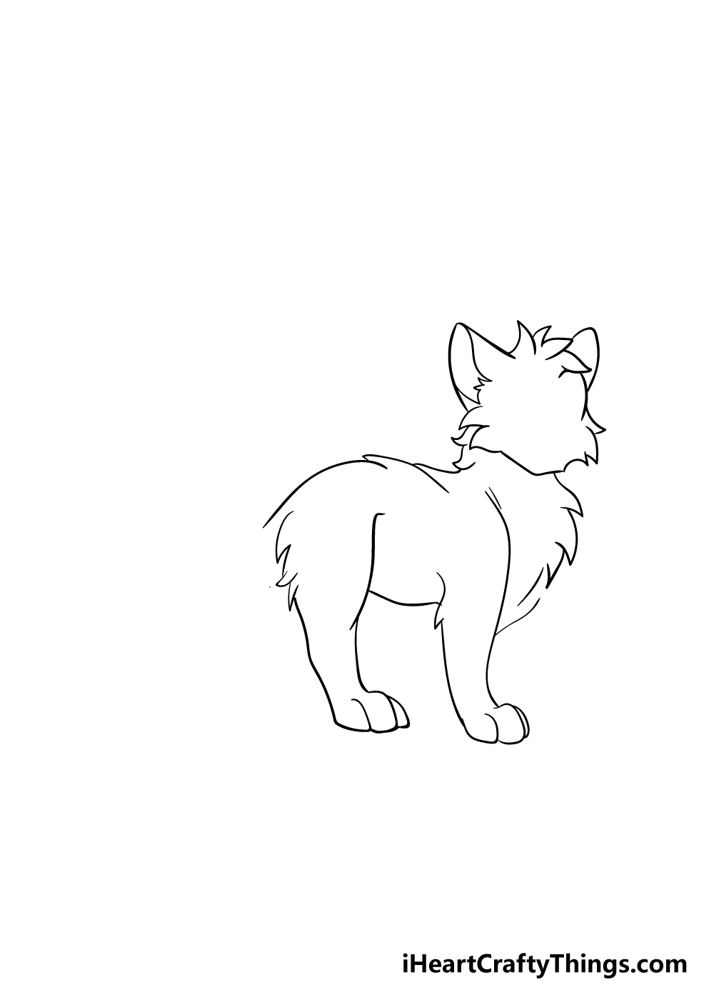 warrior cats drawing step 4