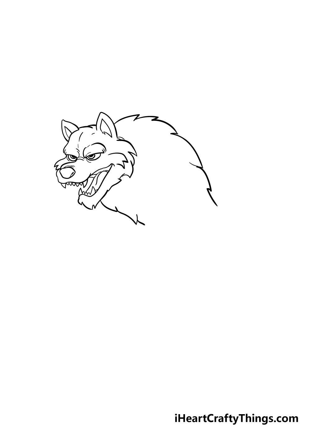 werewolf drawing step 4