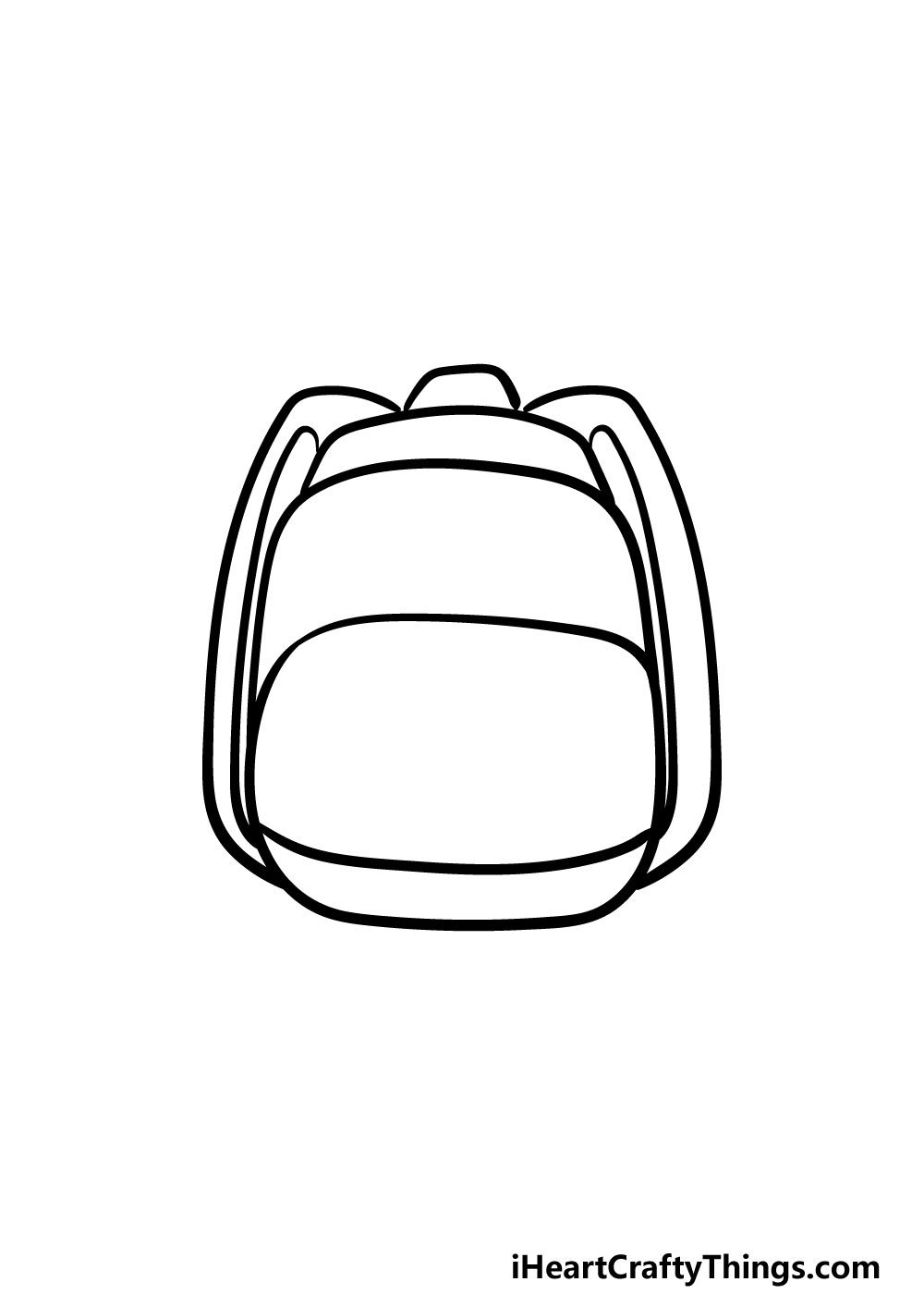 drawing backpack step 4
