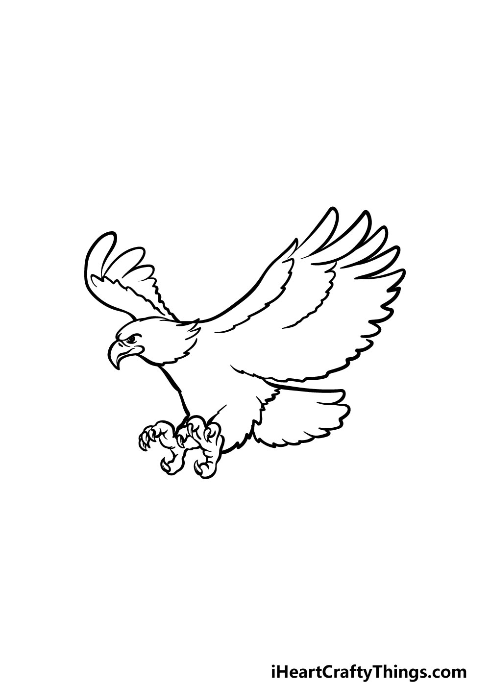 bald eagle drawing step 4