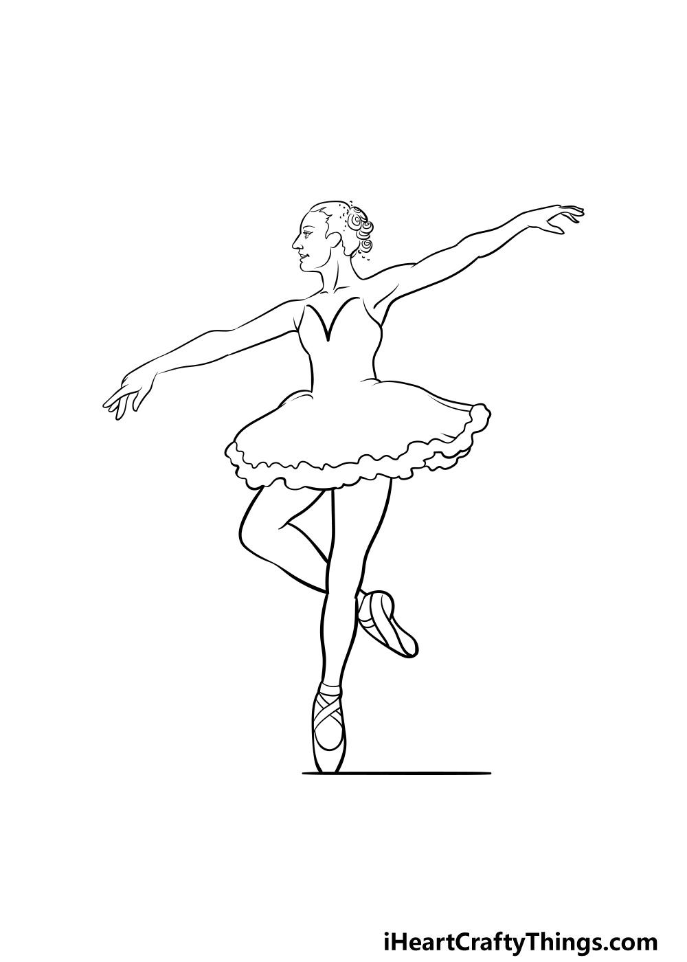 ballerina drawing step 4