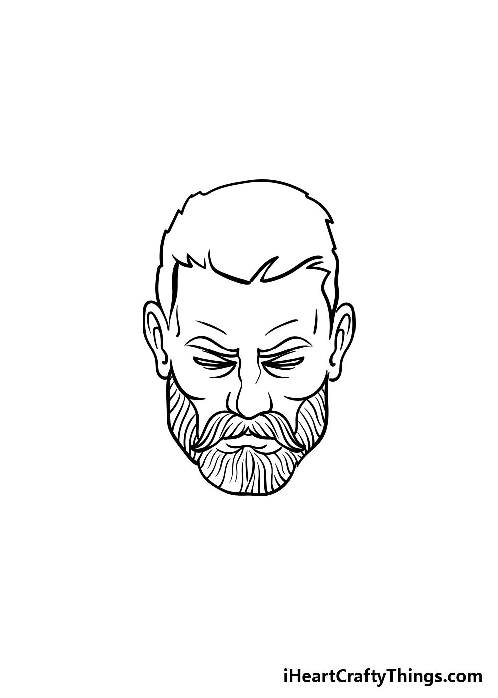 drawing a beard step 4