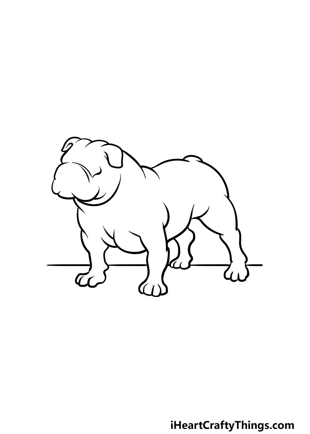 drawing bulldog step 4
