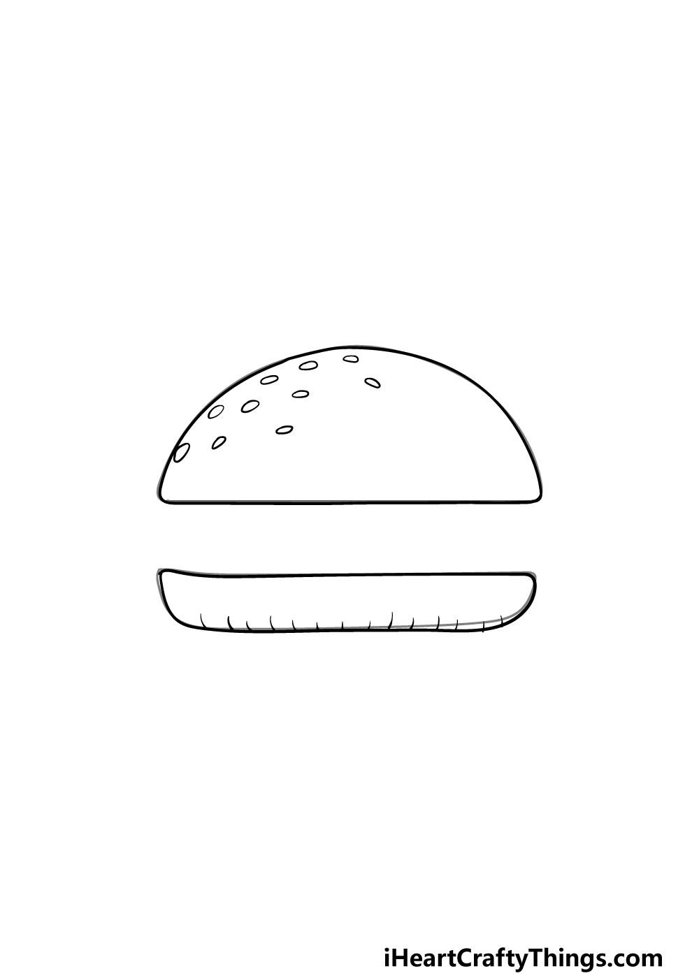 drawing a bun step 4