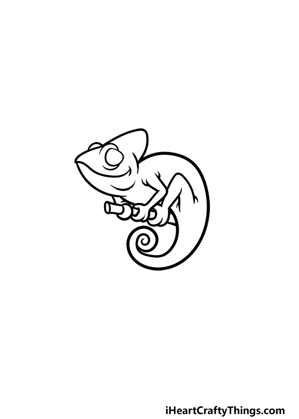 drawing a chameleon step 4