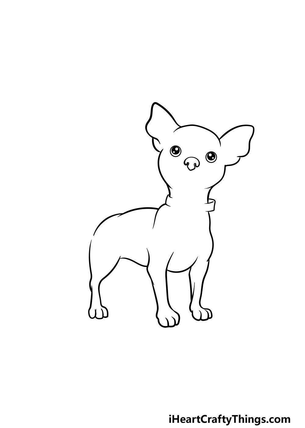drawing a chihuahua step 4