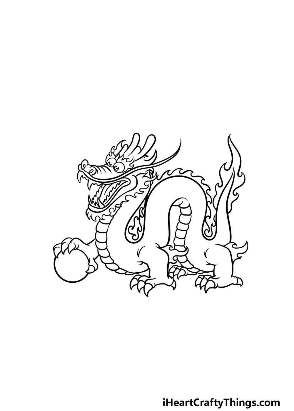 drawing Chinese dragon step 4