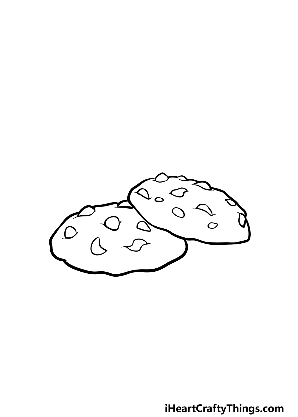 drawing a cookie step 4