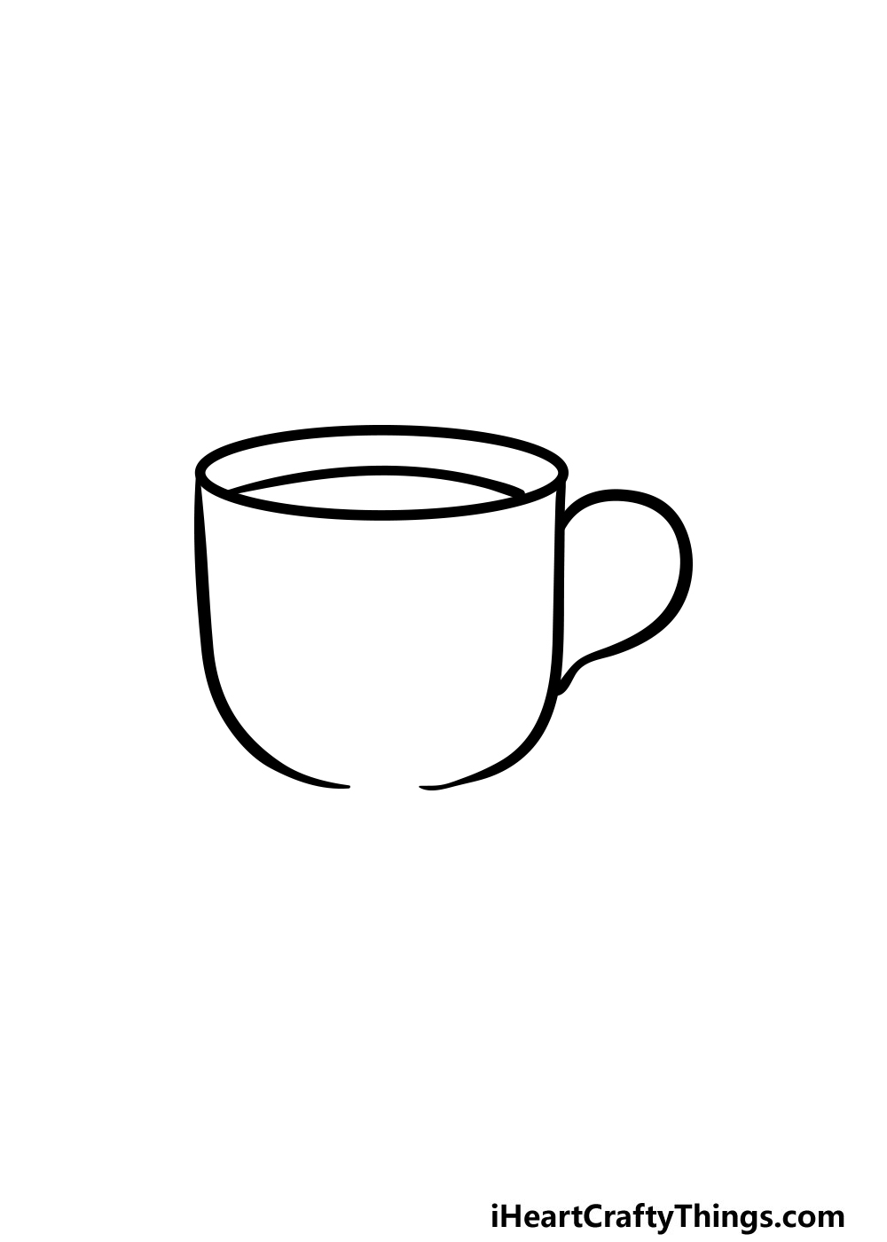 drawing a cup step 4