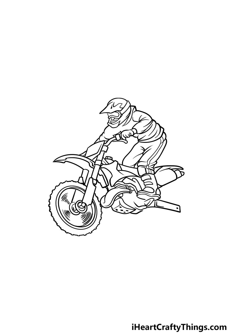 drawing a dirt bike step 4