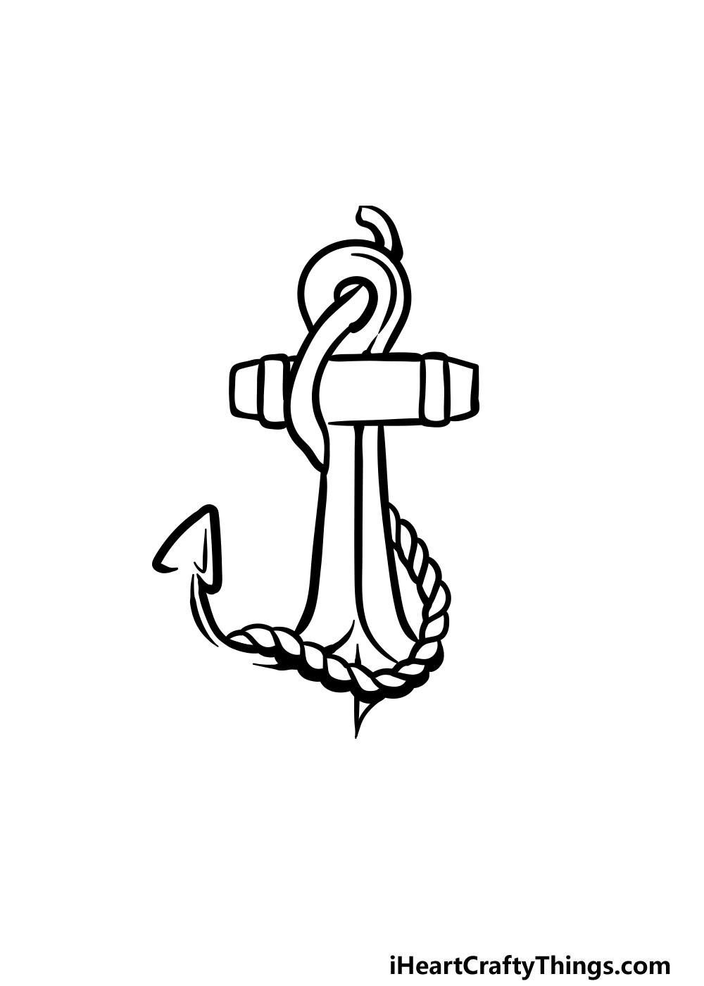 drawing an anchor step 4