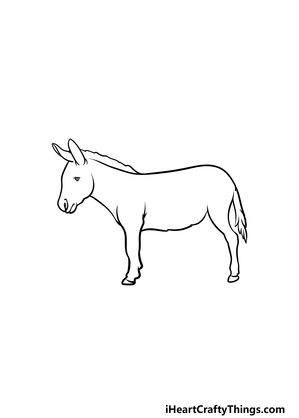 drawing a donkey step 4