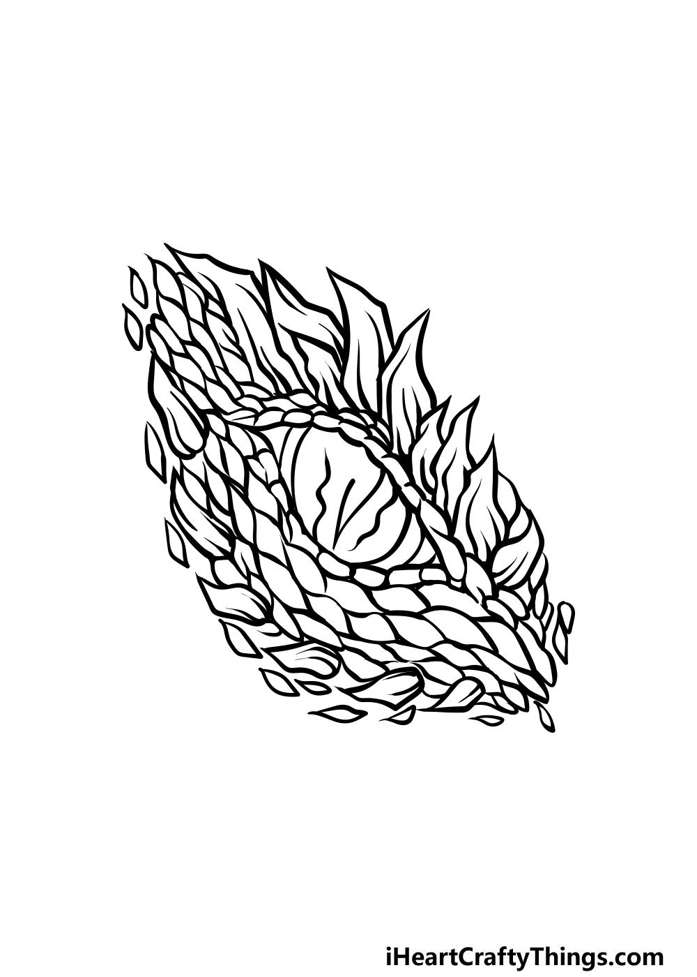drawing a dragon eye step 4