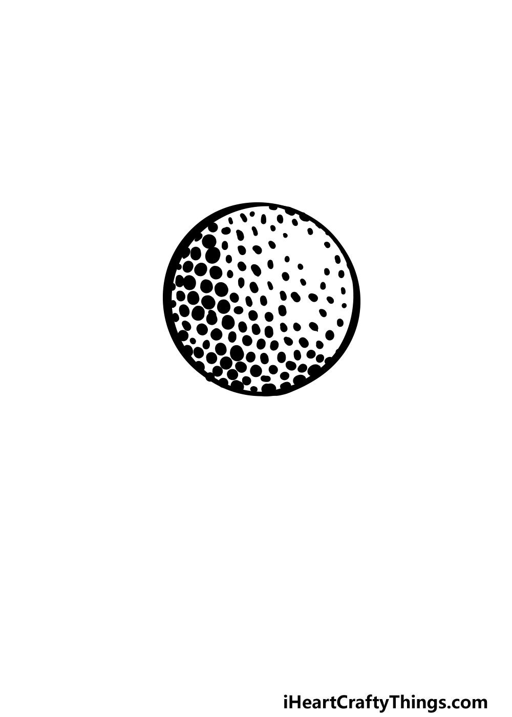 drawing a golf ball step 4