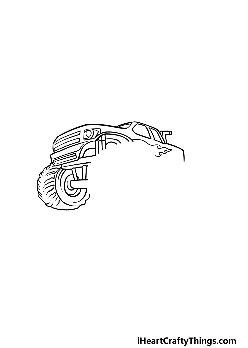 drawing a monster truck step 4