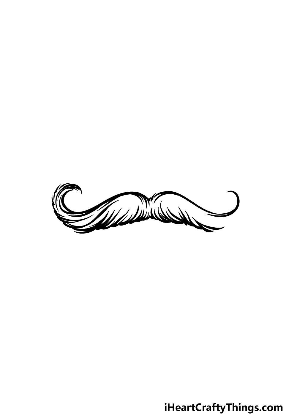 drawing a mustache step 4