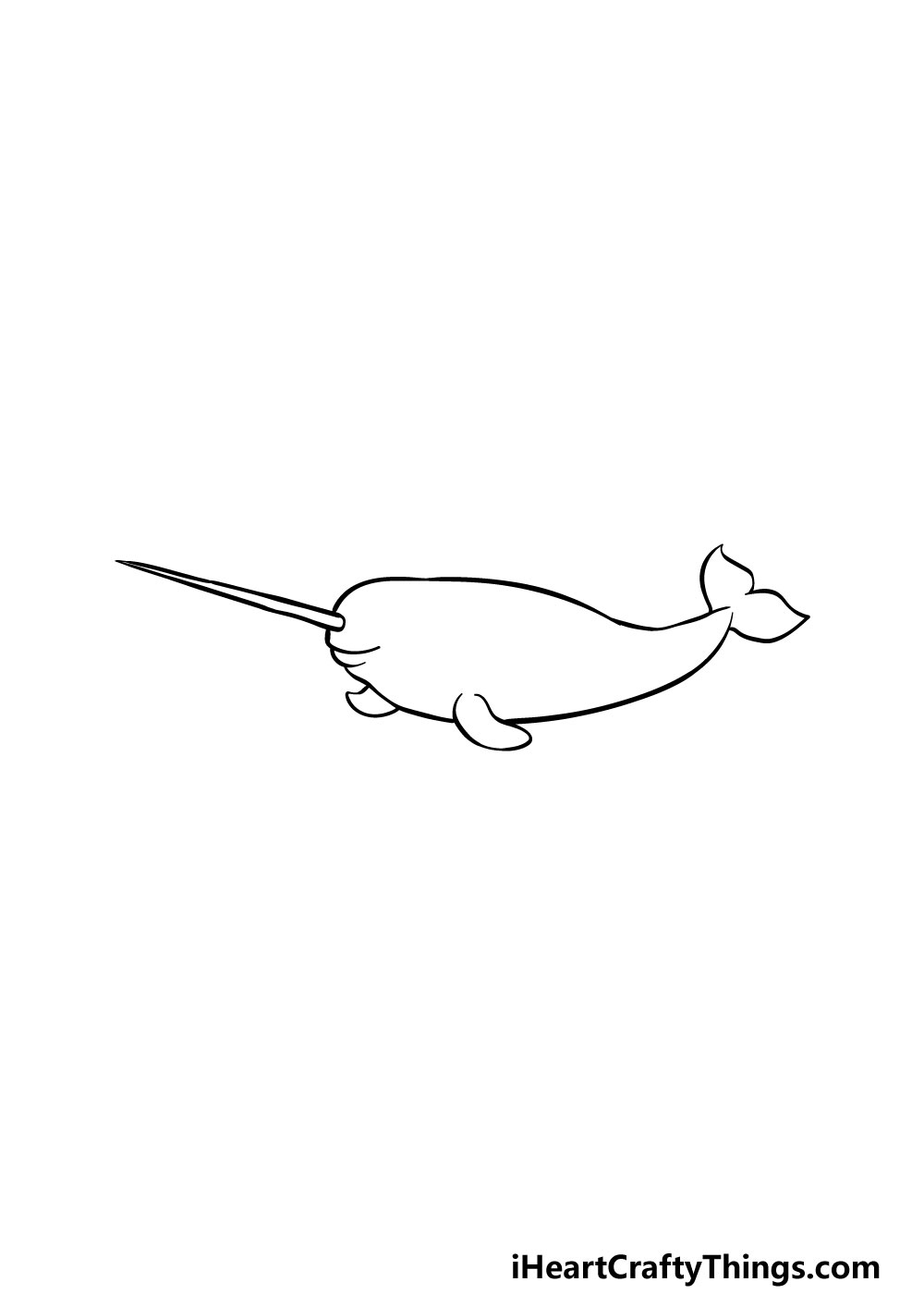 drawing a narwhal step 4
