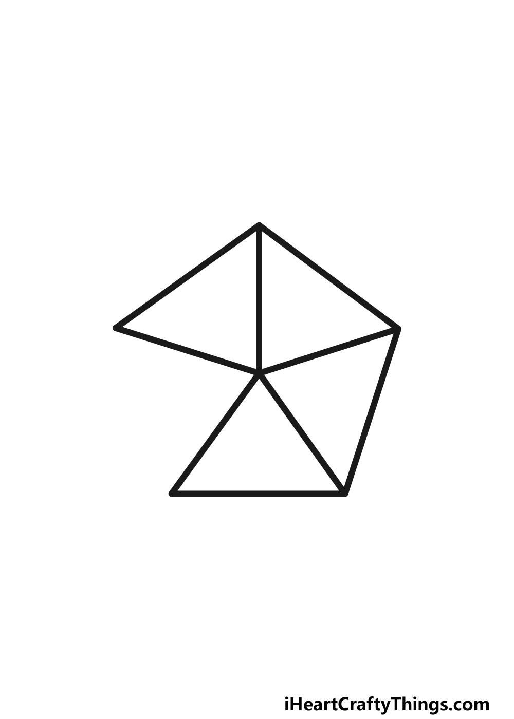 drawing a pentagon step 4