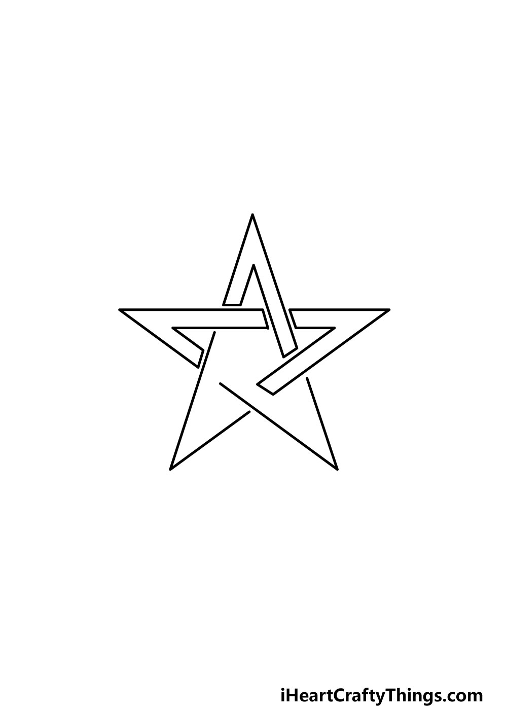 drawing a pentagram step 4