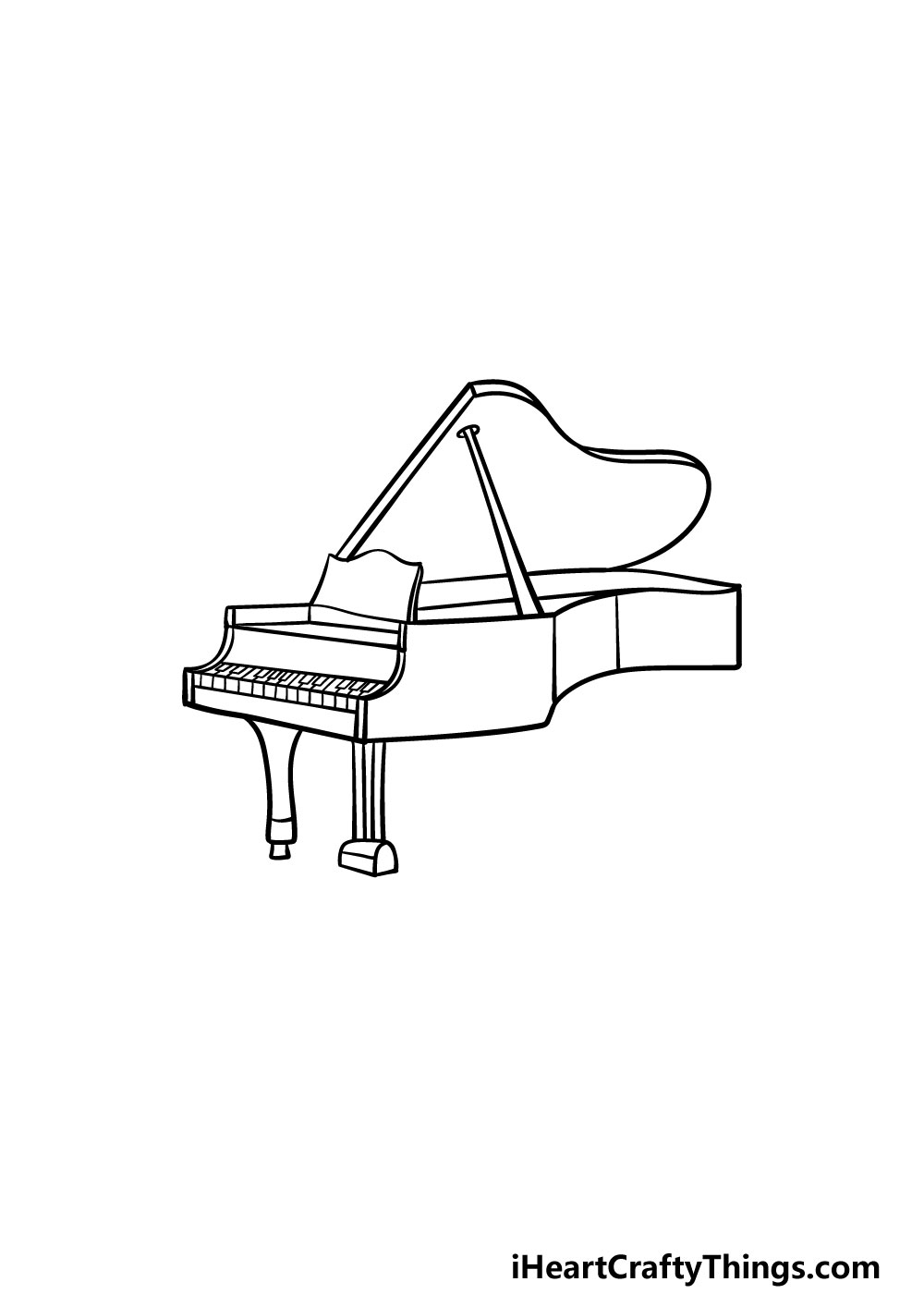 drawing a piano step 4