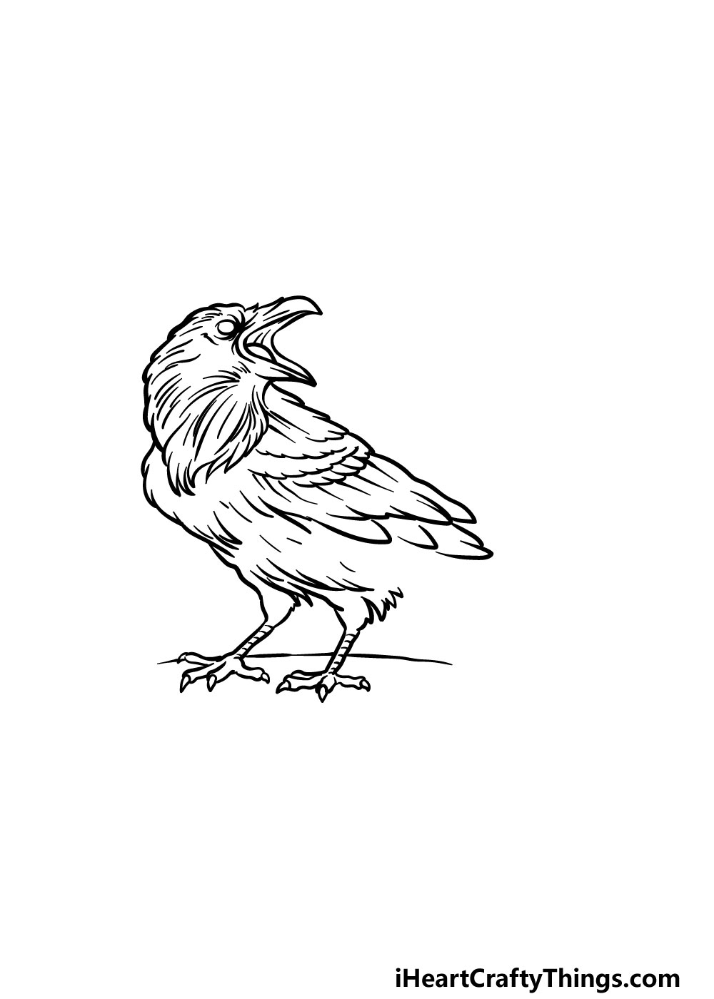 drawing a raven step 4