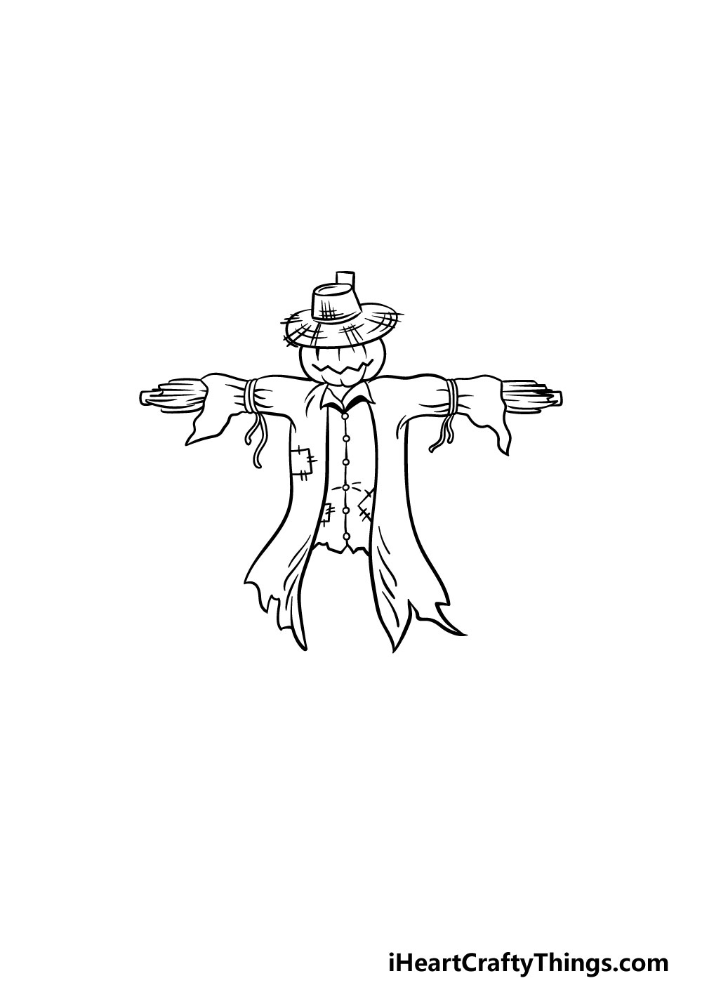 drawing a scarecrow step 4