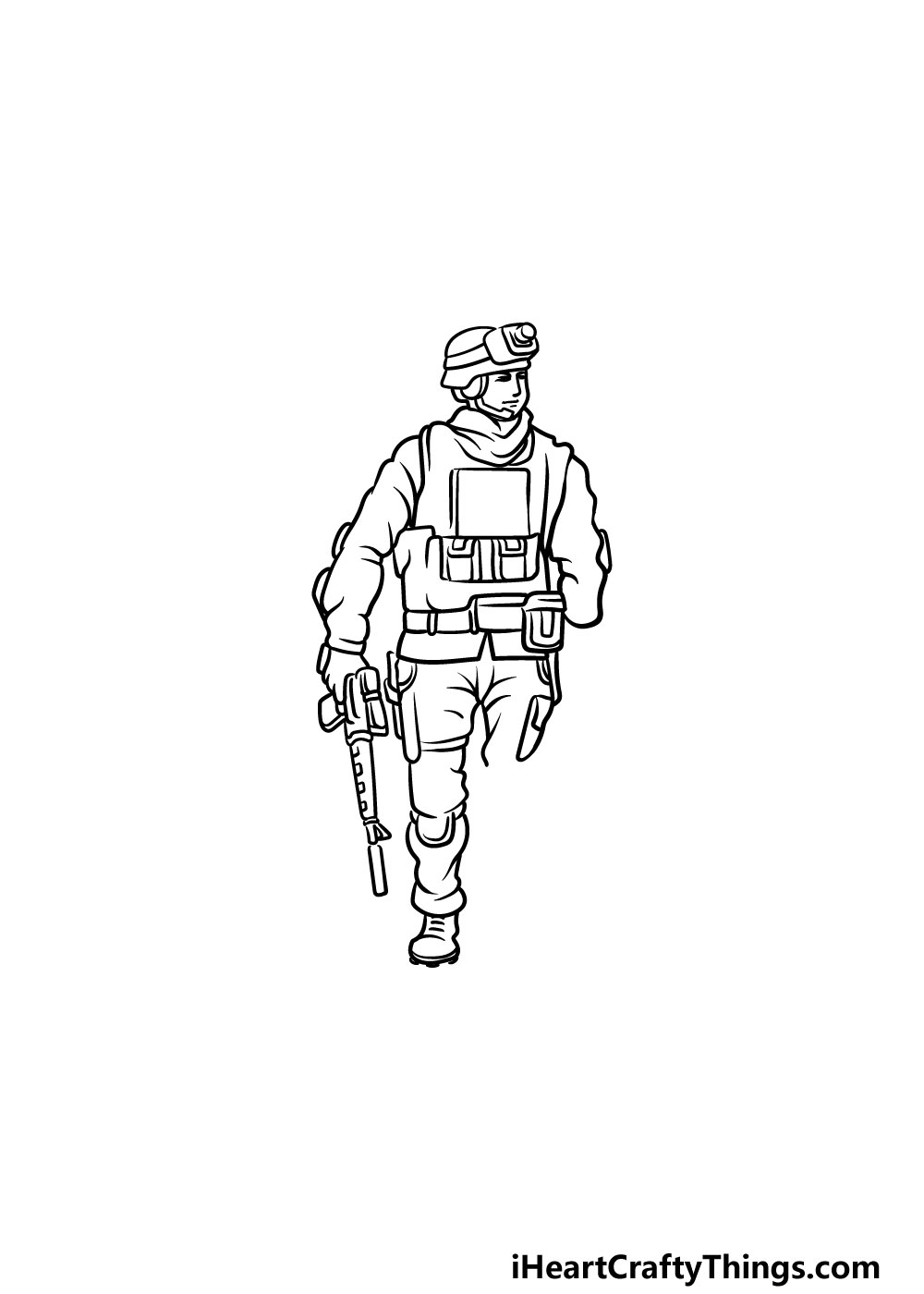 drawing a soldier step 4