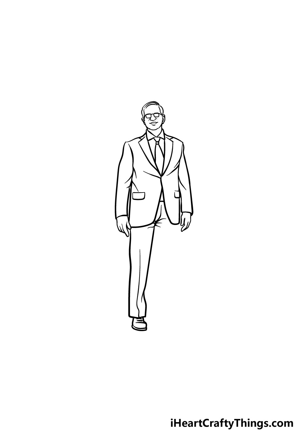 drawing a suit step 4