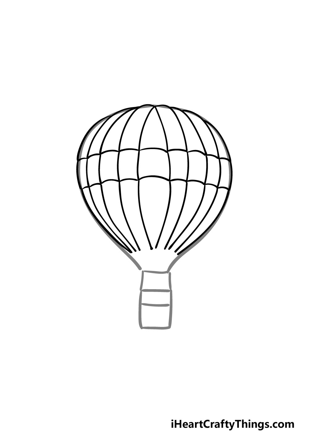 drawing a hot air balloon step 4