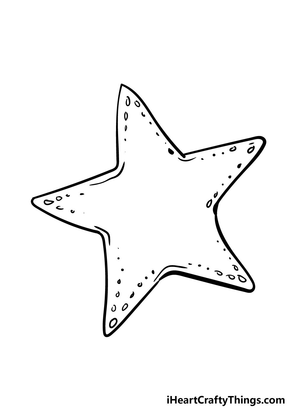 vẽ sao biển bước 4