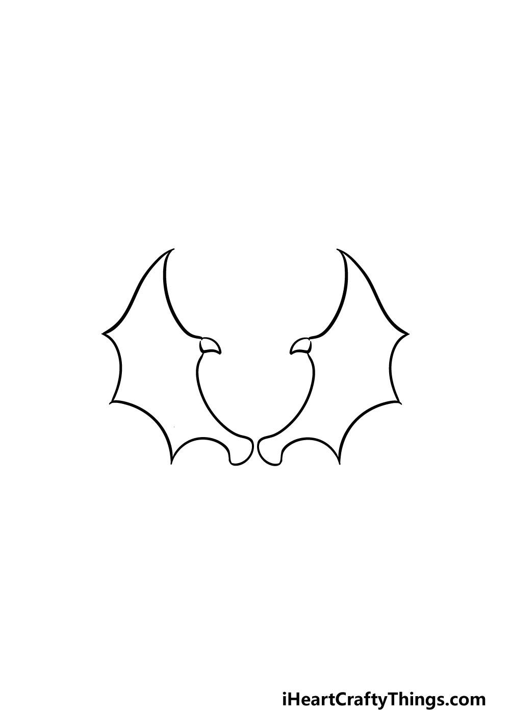drawing dragon wings step 4
