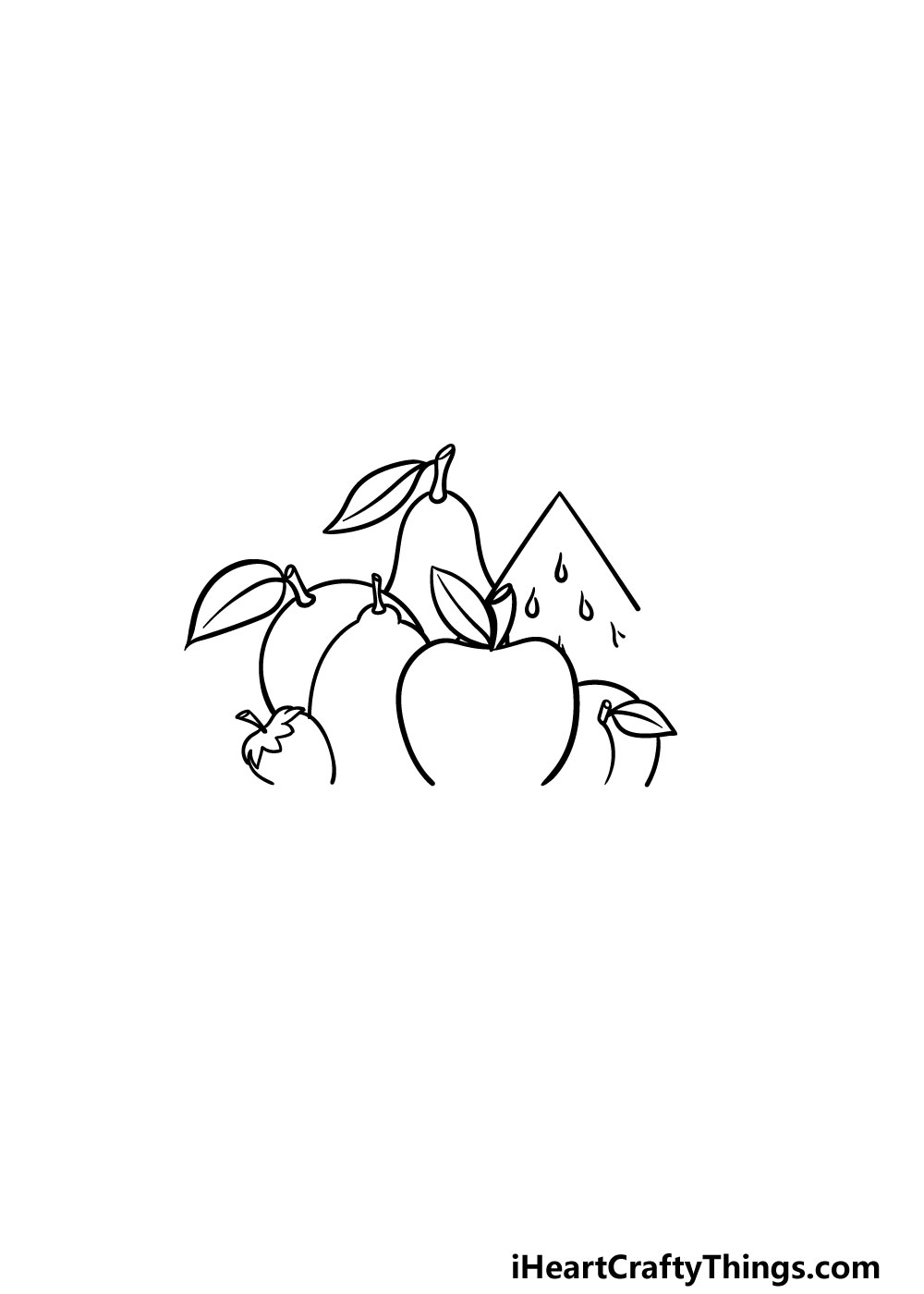 drawing fruits step 4