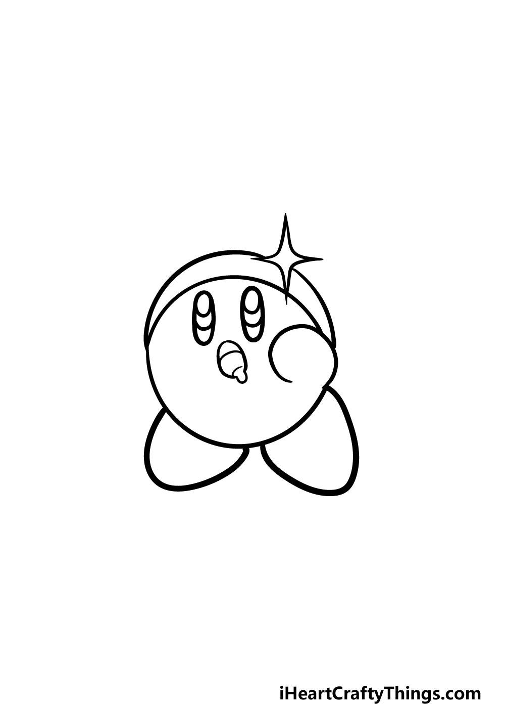drawing kirby step 4