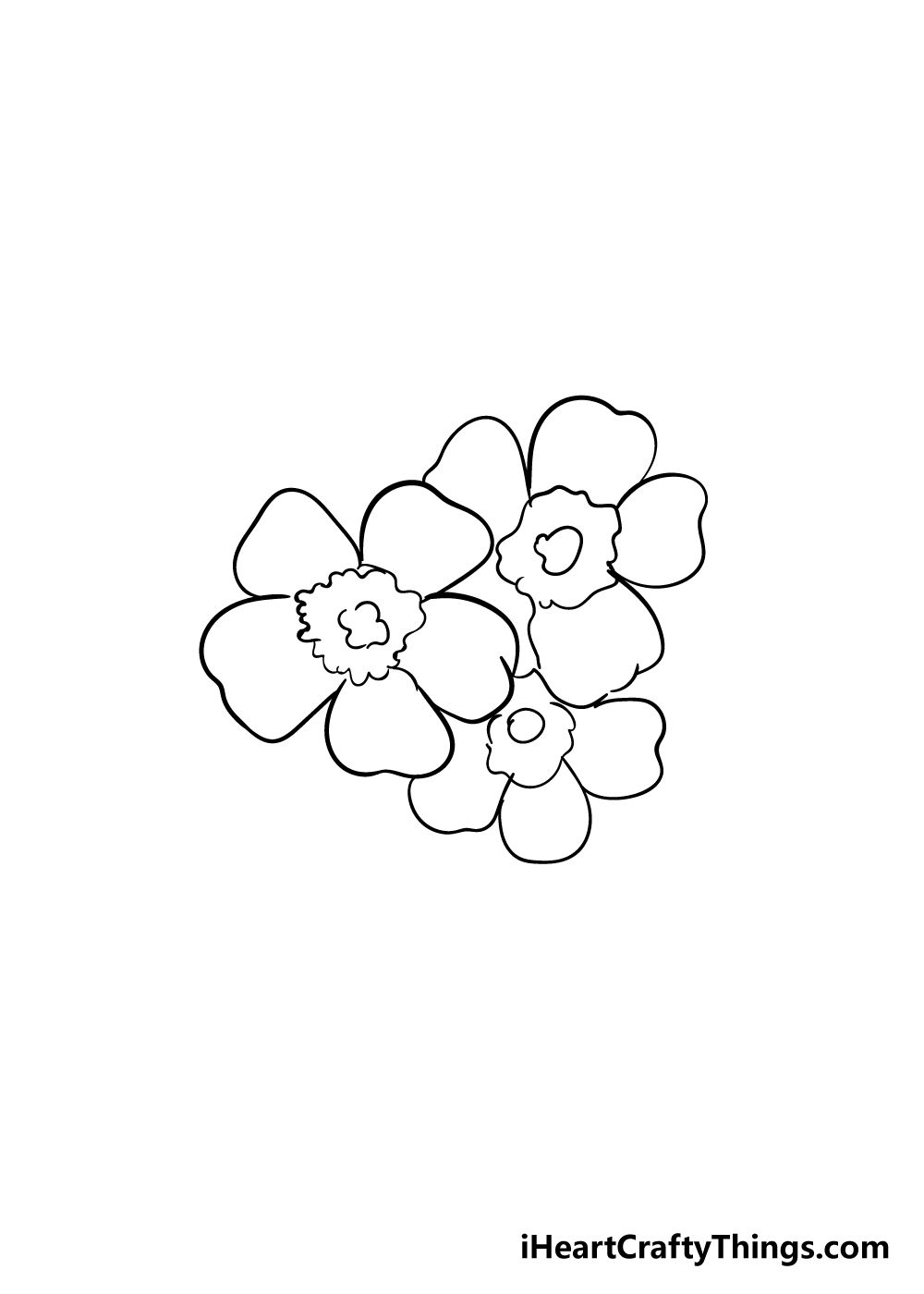 cherry blossoms drawing step 5