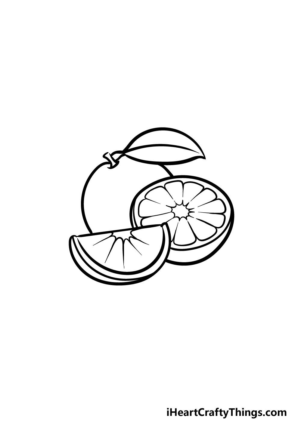 drawing oranges step 5