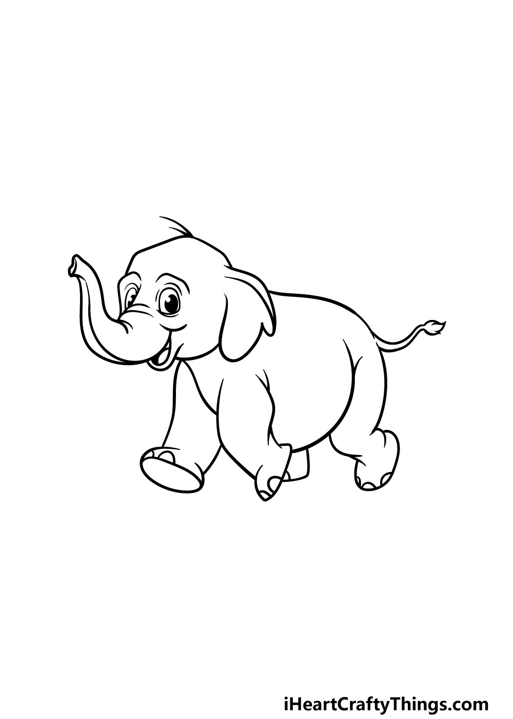 drawing a baby elephant step 5